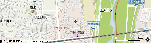 兵庫県西宮市上大市周辺の地図