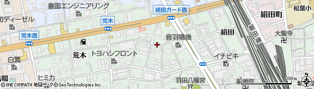 愛知県豊橋市花田町(中ノ坪)周辺の地図