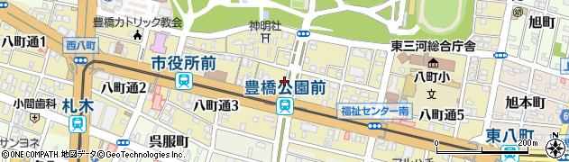 愛知県豊橋市八町通周辺の地図