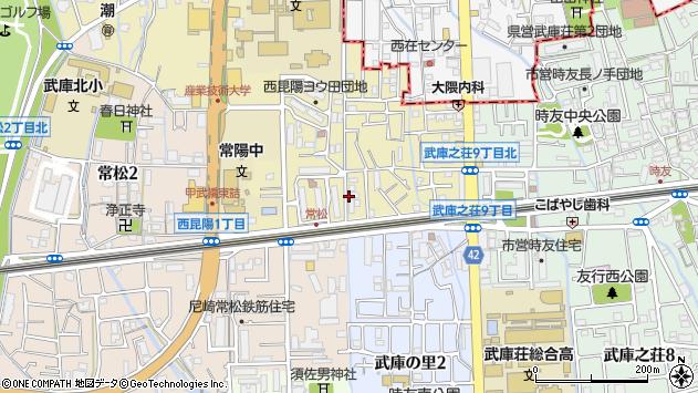 〒661-0047 兵庫県尼崎市西昆陽の地図