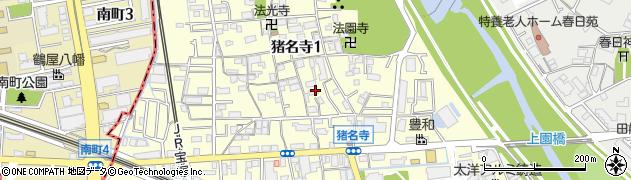 兵庫県尼崎市猪名寺1丁目周辺の地図