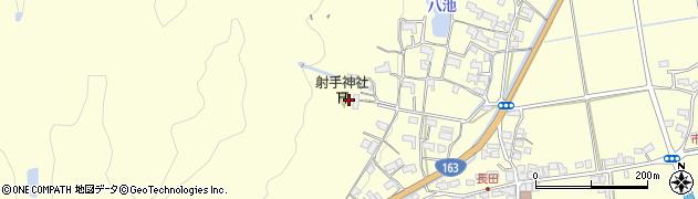 射手神社周辺の地図