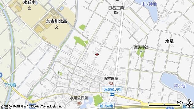 〒675-0019 兵庫県加古川市野口町水足の地図