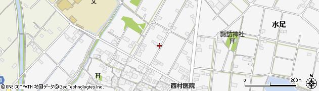 兵庫県加古川市野口町(水足)周辺の地図