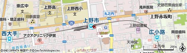 三重県伊賀市周辺の地図