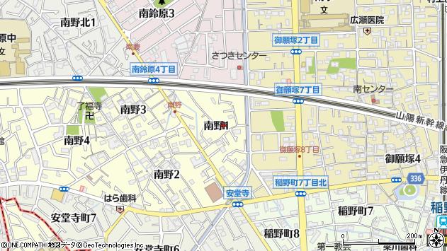 〒664-0865 兵庫県伊丹市南野の地図