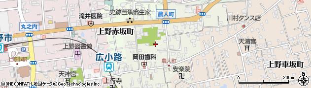 三重県伊賀市上野農人町周辺の地図