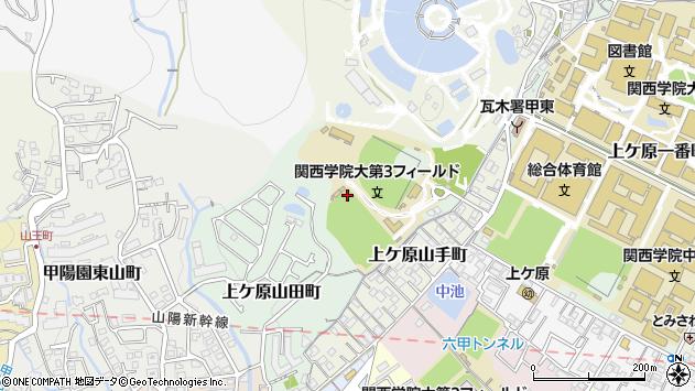 〒662-0886 兵庫県西宮市上ケ原山田町の地図