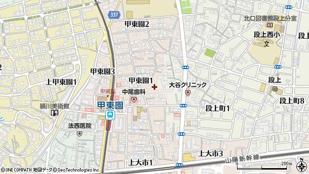 〒662-0812 兵庫県西宮市甲東園の地図