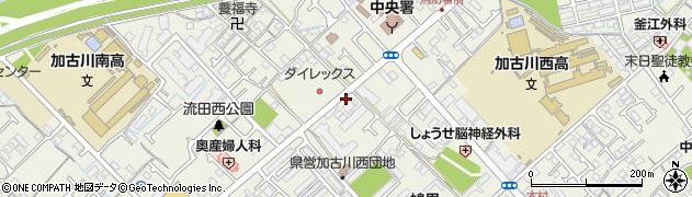 兵庫県加古川市加古川町(西河原)周辺の地図