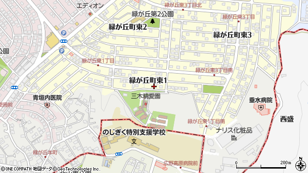 〒673-0533 兵庫県三木市緑が丘町東の地図