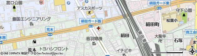 甲羅グループ甲羅本店 豊橋店周辺の地図
