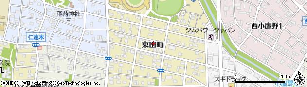 愛知県豊橋市東田町周辺の地図