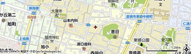 愛知県豊橋市東田町(西郷)周辺の地図
