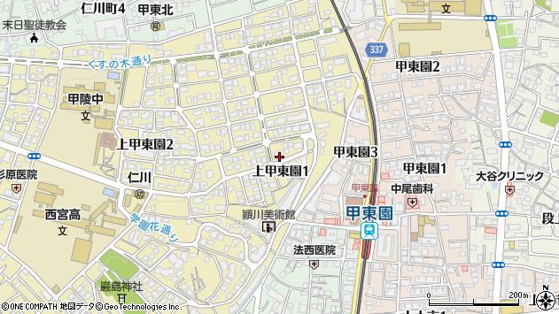 〒662-0813 兵庫県西宮市上甲東園の地図