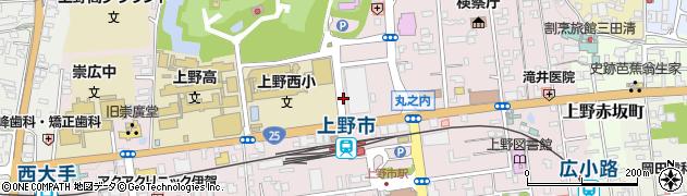 三重県伊賀市上野丸之内周辺の地図