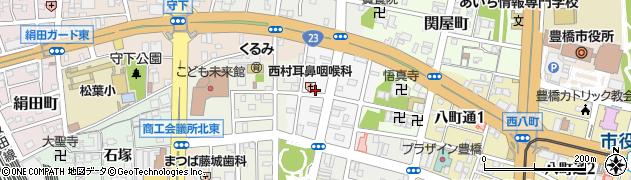 きくや料理店周辺の地図