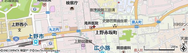 三重県伊賀市上野玄蕃町周辺の地図