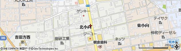愛知県豊橋市小向町(北小向)周辺の地図