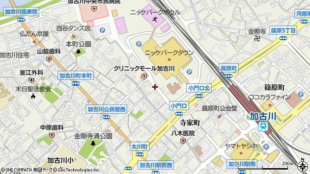 〒675-0066 兵庫県加古川市加古川町寺家町の地図