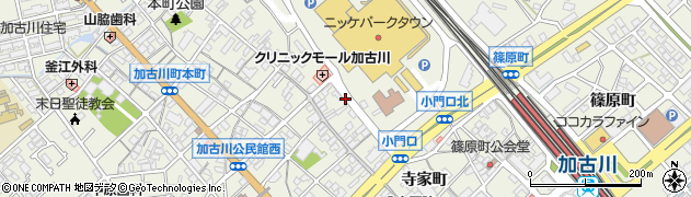 兵庫県加古川市加古川町(寺家町)周辺の地図