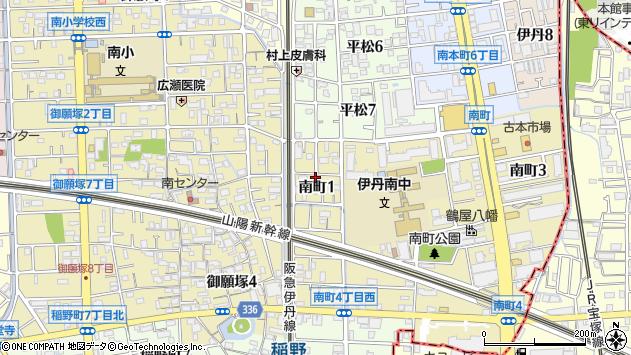 〒664-0854 兵庫県伊丹市南町の地図