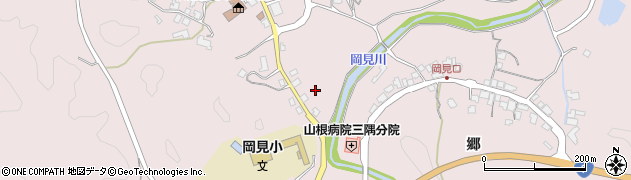 島根県浜田市三隅町岡見周辺の地図