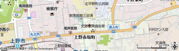 三重県伊賀市上野赤坂町周辺の地図