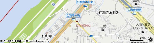 大阪府寝屋川市仁和寺本町周辺の地図