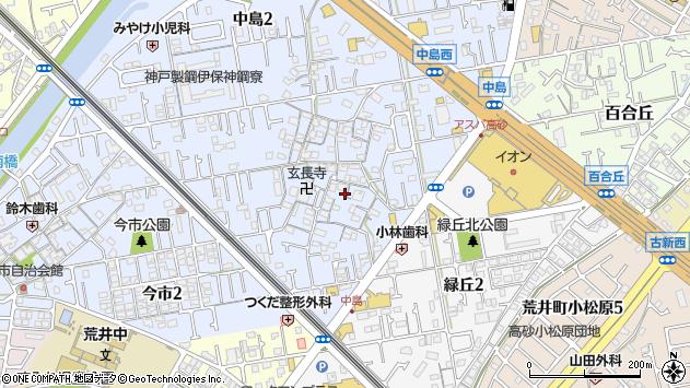 〒676-0001 兵庫県高砂市中島の地図