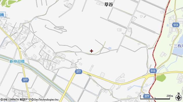 〒675-1102 兵庫県加古郡稲美町草谷の地図