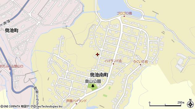 〒659-0004 兵庫県芦屋市奥池南町の地図
