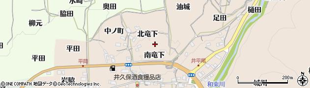 京都府木津川市加茂町井平尾周辺の地図
