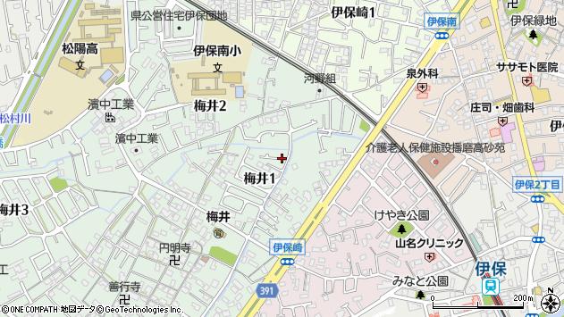 〒676-0074 兵庫県高砂市梅井の地図