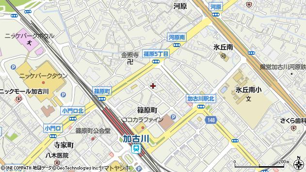 〒675-0065 兵庫県加古川市加古川町篠原町の地図