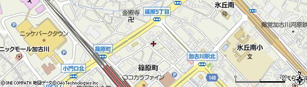 兵庫県加古川市加古川町(篠原町)周辺の地図