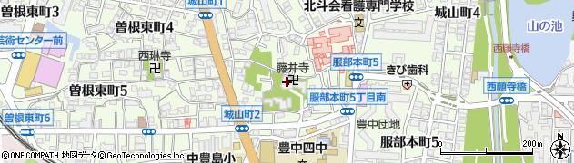 藤井寺周辺の地図