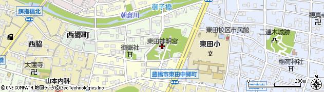 東田神明宮周辺の地図