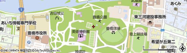 愛知県豊橋市今橋町周辺の地図
