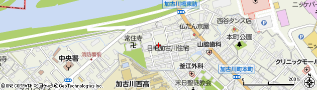 兵庫県加古川市加古川町(本町)周辺の地図