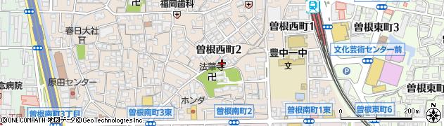 豊中曽根リッツハウス周辺の地図