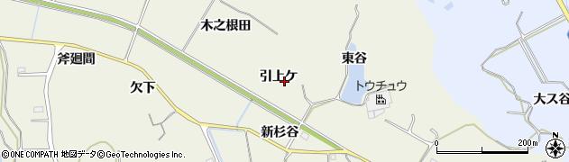 愛知県美浜町(知多郡)野間(引上ケ)周辺の地図