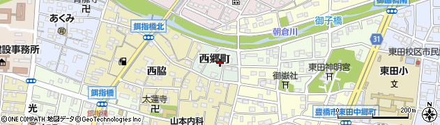 愛知県豊橋市西郷町周辺の地図