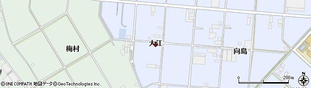 愛知県豊橋市高洲町(大江)周辺の地図