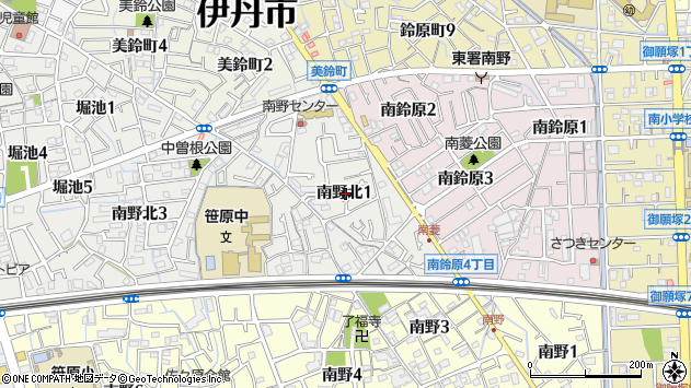 〒664-0887 兵庫県伊丹市南野北の地図