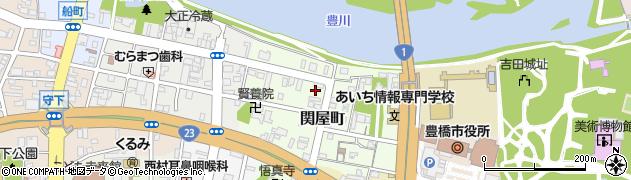 愛知県豊橋市関屋町周辺の地図