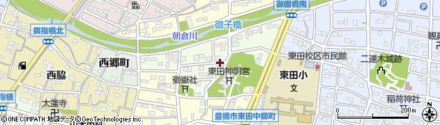 愛知県豊橋市御園町周辺の地図