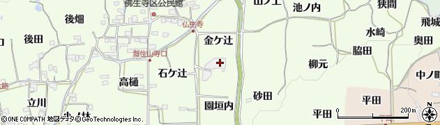京都府木津川市加茂町例幣(金ケ辻)周辺の地図