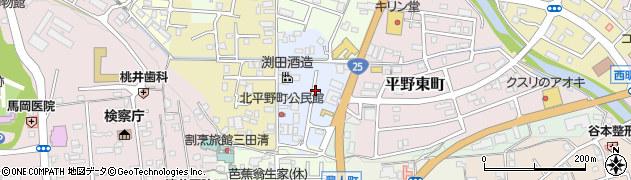 三重県伊賀市平野六反田周辺の地図