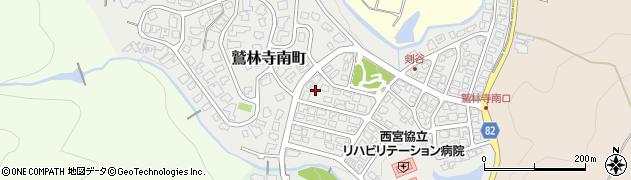 兵庫県西宮市鷲林寺南町周辺の地図